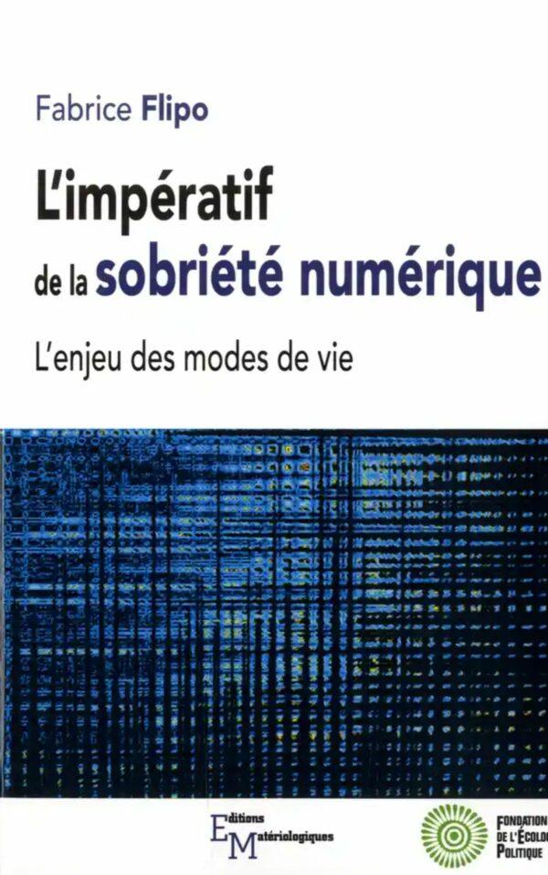 Couverture livre - L'impératif de la sobriété numérique - Label NR