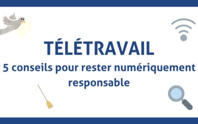 Télétravail | Rester numérique responsable