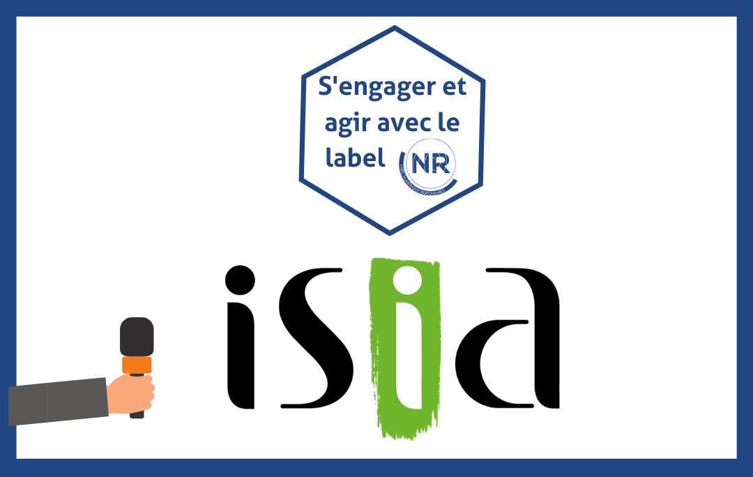 Visuel témoignage ISIA, ESN engagé NR - Label NR